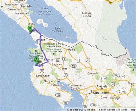 san jose nicaragua map visiting san juan sur for a mini vacation from costa rica