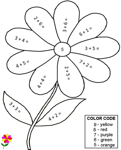 math color by number coloring pages worksheets math worksheets addition