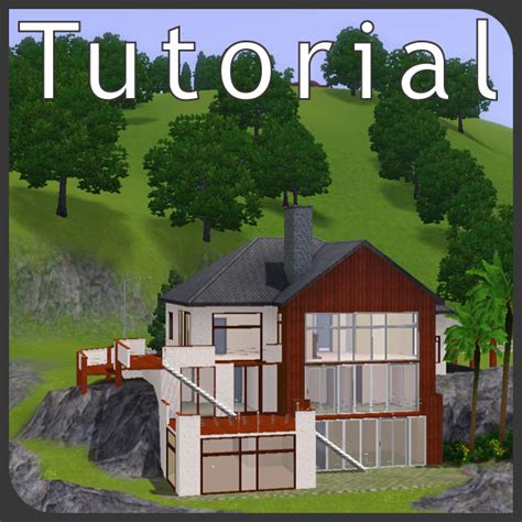 Tutorial: hillside lots   building the house into the