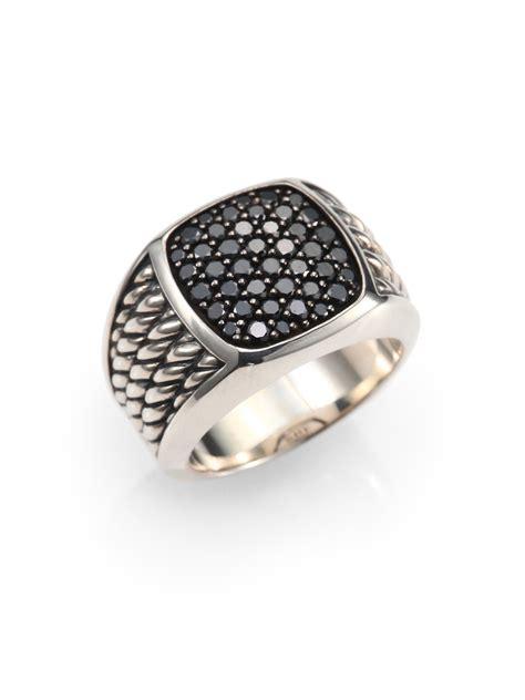 david yurman sterling silver and black ring in