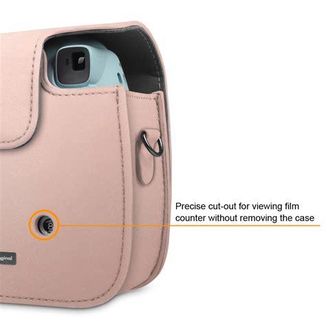 Fujifilm Leather Bag Polaroid Instax Mini 8 Hello Diskon fujifilm instax mini 8 8 9 instant leather bag cover gold ebay