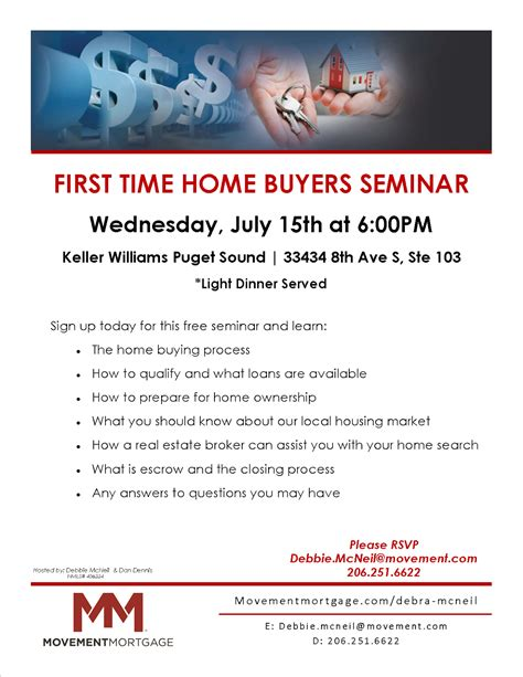time home buyers seminar wednesday july 15th