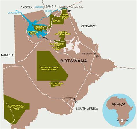 africa map botswana botswana eafrica safari tours