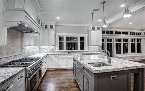 Marble Kitchen Backsplash by White Ice Granite Countertops For A Fantastic Kitchen Decor