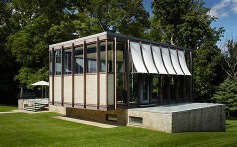 Rectangle House following a meticulous renovation philip johnson s wiley
