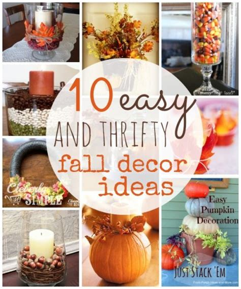 easy to make fall decorations 10 thrifty fall home decor ideas to create