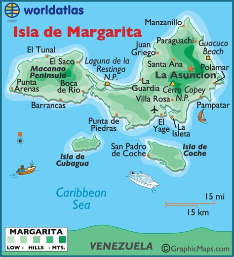 5 themes of geography venezuela large map of isla de margarita