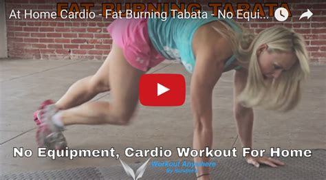 at home cardio burning tabata no equipment