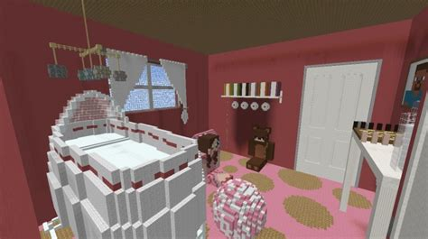 how to build a baby crib in minecraft baby girl s room minecraft project