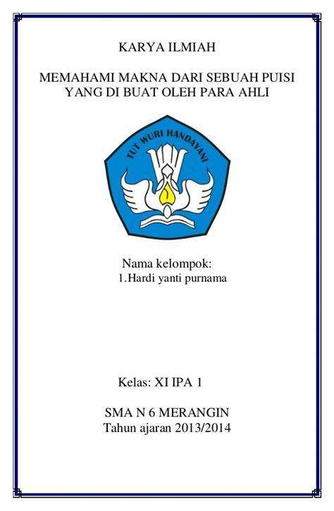 contoh daftar pustaka karya ilmiah bahasa indonesia contoh karya tulis ilmiah lengkap upload share and