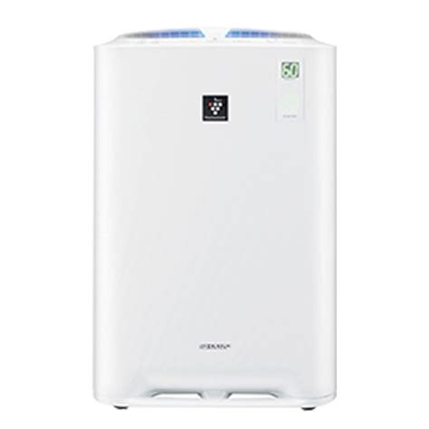 sharp air purifier with humidifier kc a50e w available at esquire electronics