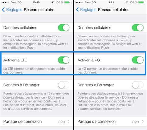 mobile hotspot iphone 5c tutoriel activer la 4g de free mobile sur iphone d 232 s