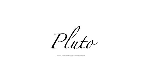 pluto tattoo designs pluto mythology name designs tattoos with names