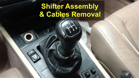 Volvo 850 Manual Transmission by Shifter Assembly And Cables Removal For Manual