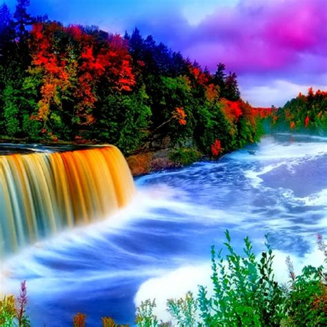 rainbow waterfall hd wallpaper hd latest wallpapers