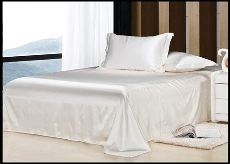 White Bed Linen Sets Luxury White Bedding Set Silk Sheets Quilt Duvet Cover King Size Bed In A