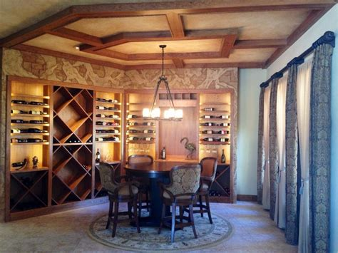repurpose dining room wine tasting room or how to repurpose an dining room mediterranean wine cellar