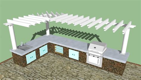 Backyard Kitchen Design by Outdoor Kitchen Designs Howtospecialist How To Build