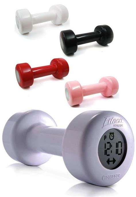 Dumbbell Alarm Clock shape up fitness dumbbell alarm clock feelgift