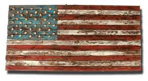 wood american flag art