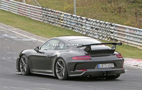 porsche gt3 991 facelifted 2017 porsche 991 gt3 spied completely free of