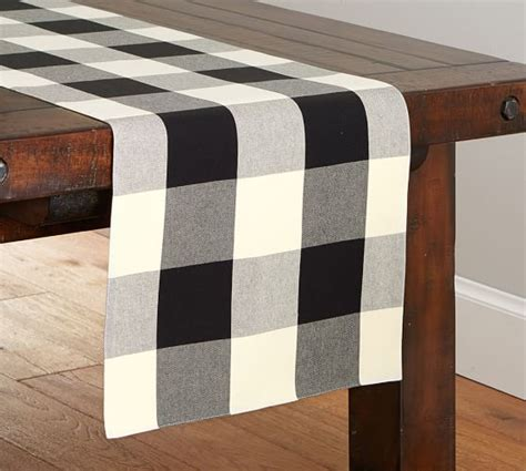 black and white buffalo check table runner buffalo check runner pottery barn
