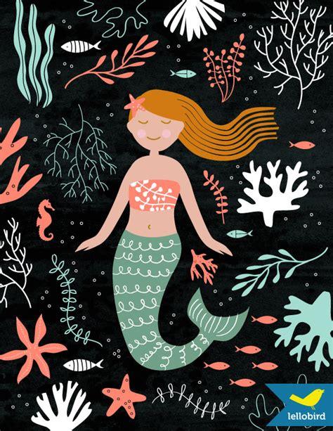 printable mermaid art mermaid art print lellobird