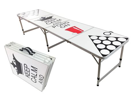 Folding Table With Handle Pong Aluminum Folding Table W Handle 8 Quot Bp 09 Easy Source Inc