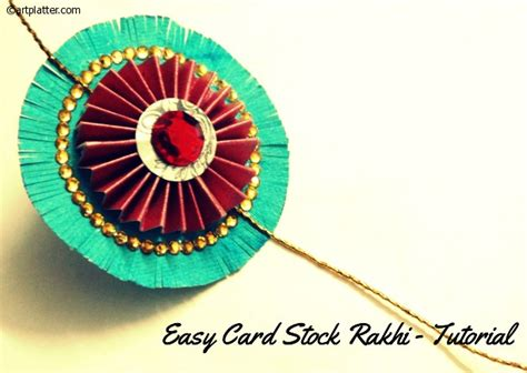How To Make Handmade Rakhi At Home - easy rakhi craft with card stock platter