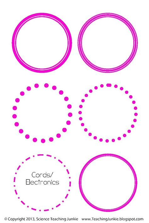printable round label stickers science teaching junkie inc office organization and