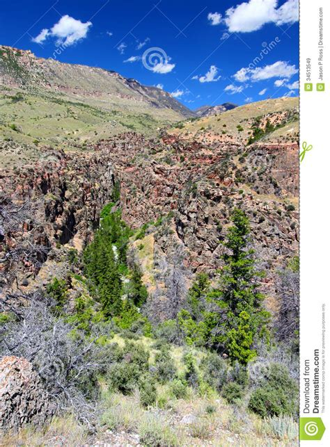 rugged scenery rugged mountain scenery of wyoming royalty free stock images image 34513549