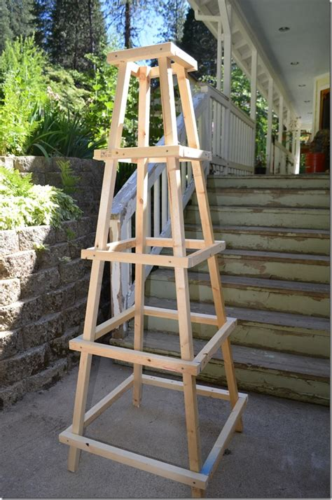 build a garden trellis easy garden obelisk flower patch farmhouse