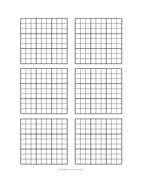 printable blank sudoku grids misc stuff pinterest