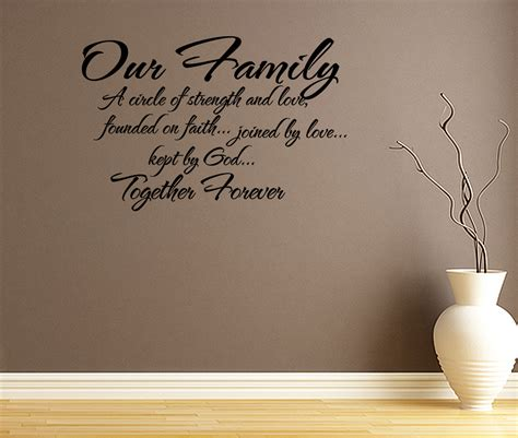 Quotes Wall Sticker Our Family Circle Of Strength And Love Wall Decal Quote