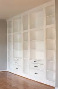 Bookshelves Look Built In Diy Built In Bookcase Reveal An Ikea Hack Studio 36