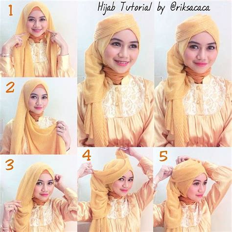 tutorial hijab ke pesta simple elegan tutorial cara memakai jilbab modern segi empat video