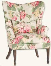 enchanted cottage floral wingback chair