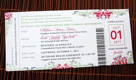 Pink, Purple & Green Swirl, Flower & Dot Airline Ticket