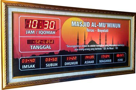Jadwal Sholat Masjid Digital Timmer Iqomah timer iqomah 171 jadwal sholat digital