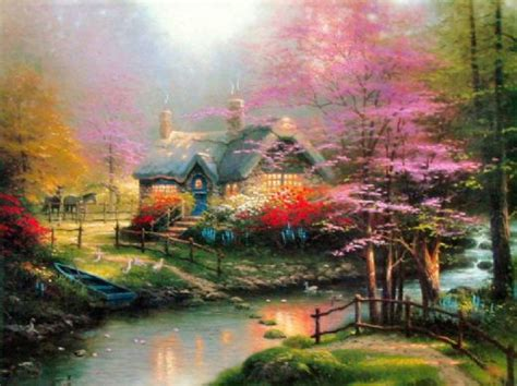 cottage paintings by kinkade kinkade stepping cottage for sale