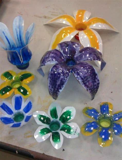 imagenes de flores reciclables flores con botellas de pl 225 stico manualidades para ni 241 os