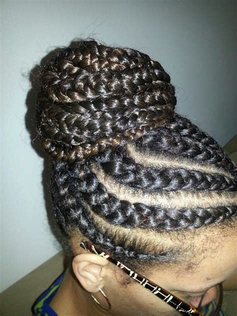 large cornrow bun styles large no knot cornroll bun braids and beauty by c