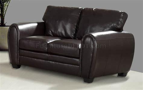 bonded leather loveseat dark brown bonded leather modern sofa loveseat w options