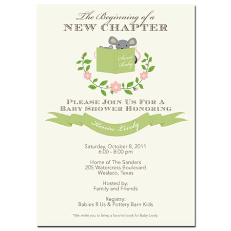 Storybook Baby Shower Invitations by Storybook Baby Shower Invitations Baby Shower Decoration