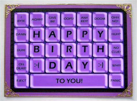 how to make birthday cards on the computer a4 novelty computer keyboard greetings card topper