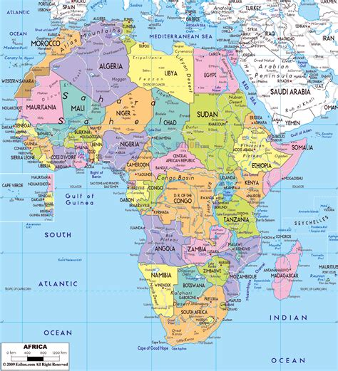 political map of maps of africa and countries political maps