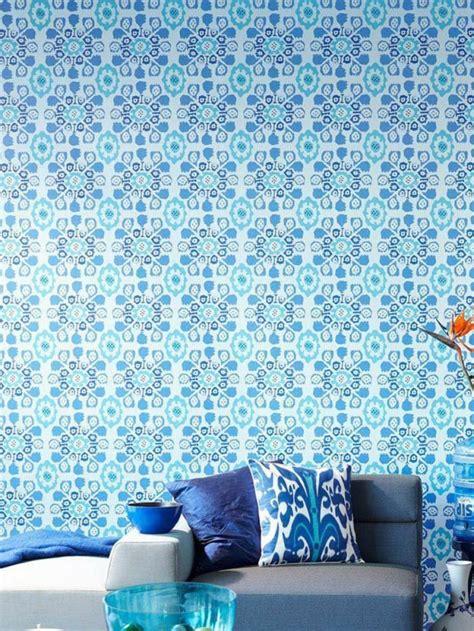Papel De Pared Decorativo #4: Papel-pared-diseno-vintage-color-azul-cojines.jpg