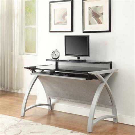 Black Ash Computer Desk Cohen Curve Computer Desk In Black Glass And Grey Ash 32444