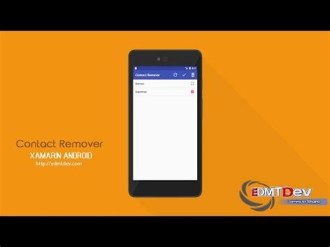 xamarin tutorial for windows phone xamarin android tutorial contacts remover app youtube