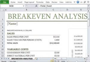 even analysis graph template how to easily create breakeven analysis in excel